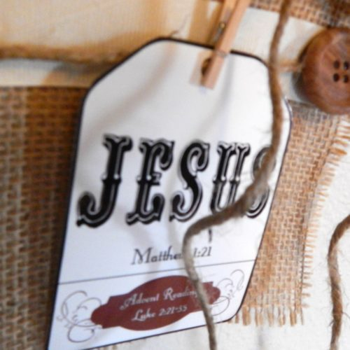 Names of Jesus Advent tags