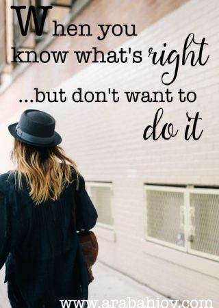 Have you ever known the right thing to do but just balk at doing it? Maybe you just have no desire to do what you know you should or maybe you enjoy doing what's wrong. What do you do? Here's what I'm learning about godly desires (or the lack thereof).
