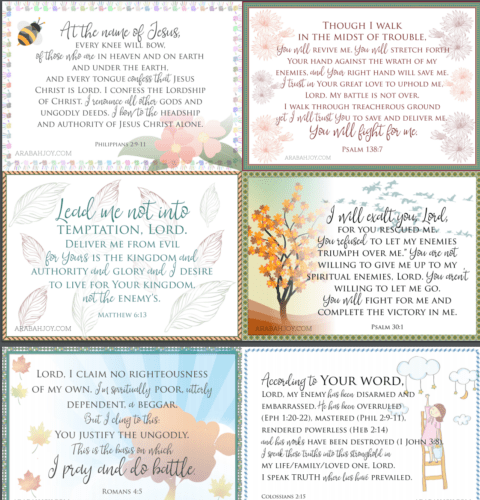 Get these FREE Prayer cards for your war room