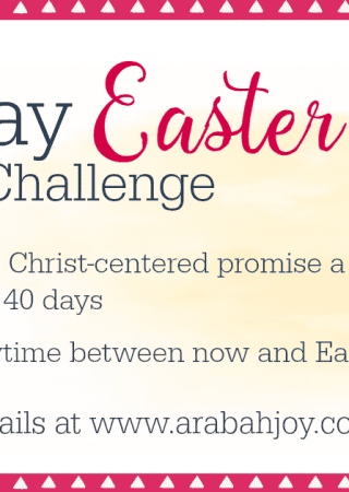 This 40 Day Easter Prayer Challenge will focus your heart on the Person and work of Christ. Perfect for individuals, families, and groups!