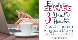 I've worked with Christian bloggers for some time and these are the top 3 mistakes I see most Christian bloggers making that hinder their effectiveness.