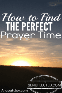 How to Find the Perfect Prayer time
