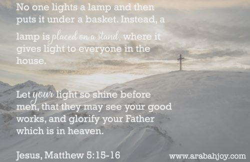 No one is given a light to hide under a basket. Are you hiding your light? Here's what I learned about letting my light shine by placing it on a lampstand.