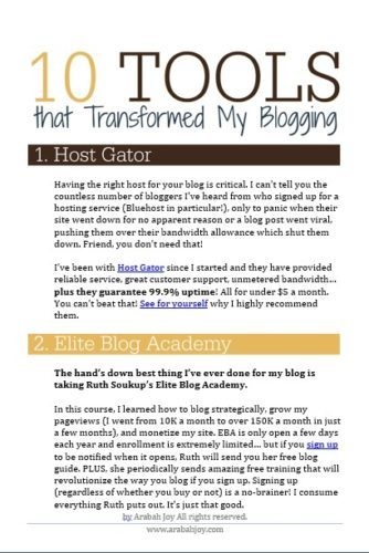 I frequently get asked how I've grown my blog to hundreds of thousands of monthly pageviews and over 25K email subscribers... and here is where I share the exact tools that have helped me get there!