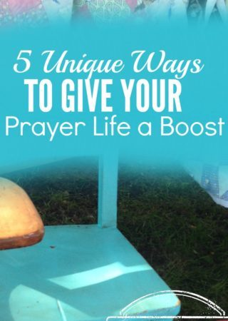 Do you feel like you're drifting in your prayer life? You're not alone! Here are 5 unique ways to give your prayer life a boost.