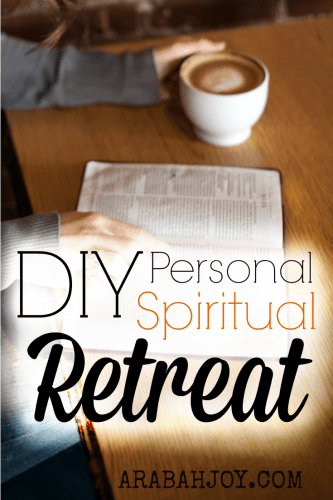 Do you take regular spiritual retreats? I'm not talking about going to a women's conference or making a coffee date with friends; I'm talking about alone time with God. Here's how I plan my own DIY spiritual retreat... and how you can too!