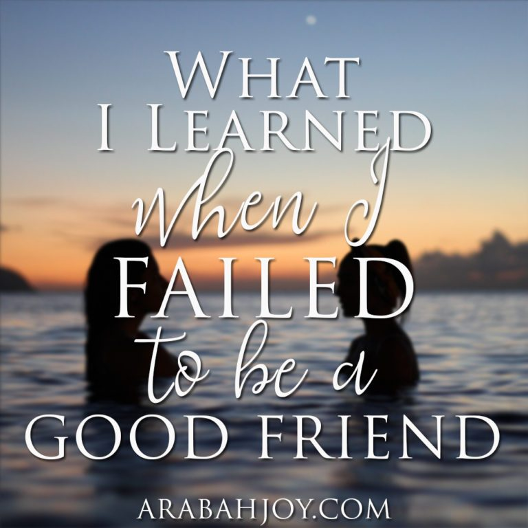 What I Learned When I Failed to be a Good Friend