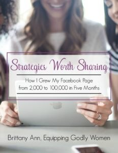 How one blogger organically grew her Facebook page from 2K to over 100K in just a few months! She found exactly what works and shares it in the brand new resource for bloggers!