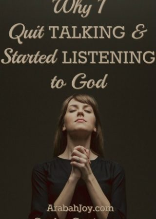 If we're spending too much time telling God our wants & desires, we're missing out on what He wants for us. Here's one woman's journey from talking to God, to listening to God.