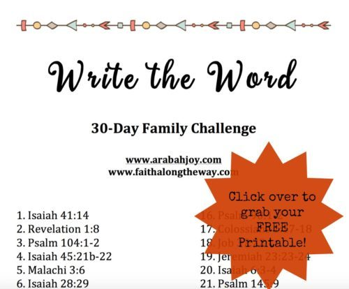 Join the Write the Word 30-Day Family Challenge and grab your free printable!