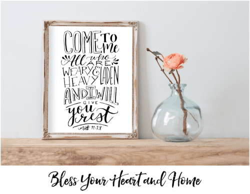 Bless Your Heart and Home free printable