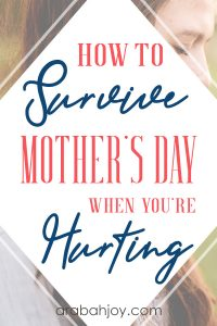 For many, Mother's Day hurts. Some are experiencing the emotional pain of infertility, others may feel God has forgotten us. Learn how to survive Mother's Day, from someone who has experience.
