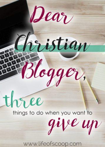 dear blogger