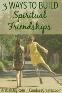 Building spiritual friendships can be such a blessing in our lives. Women need these important bonds where we can truly be ourselves and grow in life and faith. Check out these 3 awesome ways to find and nurture Christian friendships!