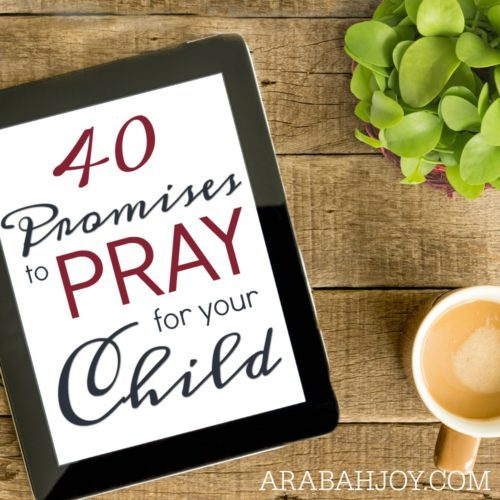 40 Promises to pray for your child square 2