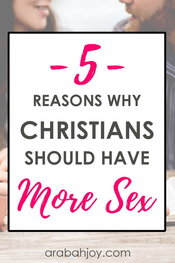 Many marriages are lackluster when it comes to Christian sex. In our current series on intimacy within Christian marriage, I'm sharing 5 reasons why Christians should have more sex.