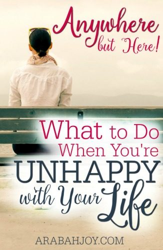 What To Do When You're Unhappy With Your Life
