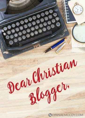 Advice from one Christian blogger to another. Join us for this week's Grace & Truth linkup
