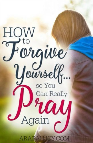 Have you been avoiding God because of guilt you feel? Try turning to Him! Here are 3 ways to forgive yourself so you can really pray again.
