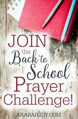 Cover your children in prayer this year as they go back to school! Great for homeschooling parents too :)