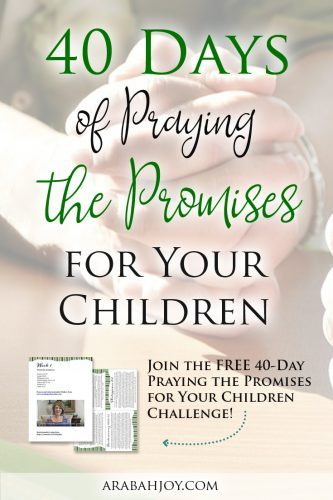 There is no greater way to invest in someone's life than to pray God's word over them! Join us in praying Scripture promises for your children (or grandchildren).
