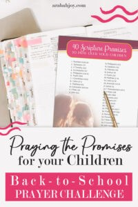 Are you anxious as your child starts back to school this year? Calm your heart with the promises of God- check out these 40 promises and get started today.