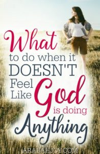 Do you struggle with seasons of waiting, not knowing what to do and wondering what God is doing? Here is what to do when it doesn't feel like God is doing anything