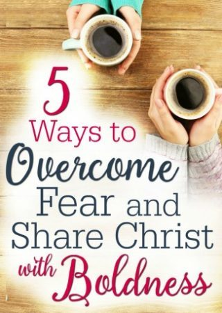 Sharing Christ can bring fear at times. Here are 5 ways to overcome that fear and share Christ with boldness.