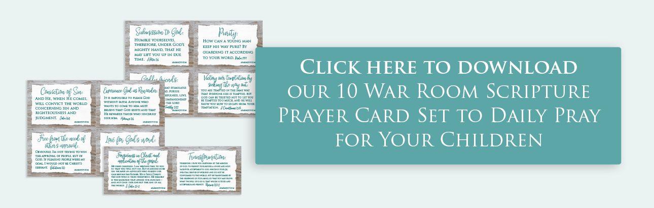 War Room prayers for kids opt in