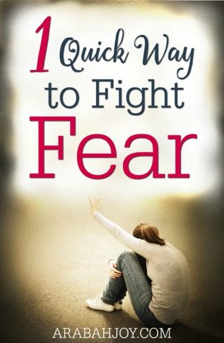 One Quick Way to Fight Fear