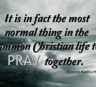 The importance of taking time to pray together - plus this week's Grace & Truth linkup