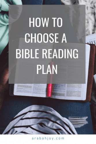 How to start reading the Bible and choose a Bible reading plan.