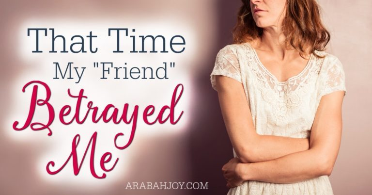 """That time my """"friend"""" betrayed me"""