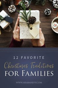 Looking for fun family Christmas traditions? Here are 12+ fun and unique traditions to enjoy with your family this holiday season. #Christmas #ChristmasEve #familyfun #familytraditions