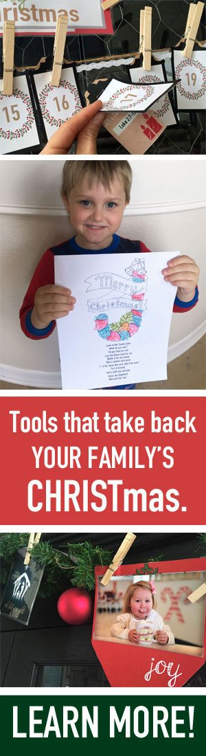 Check out these tools for putting Christ back in Christmas!