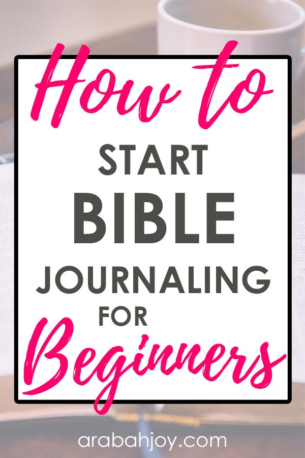 Have you wanted to try Bible journaling, but weren't sure where to start? Learn these tips for how to start Bible journaling - for beginners!