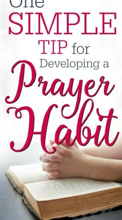 Do you struggle with remembering to pray for others? Here is one simple tip for developing a prayer habit.