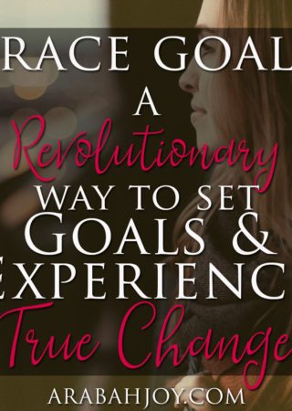 Grace Goals: A Revolutionary Approach to Setting Goals and Achieving Change. Forget the self help and use this scripture based process to set goals and see godly change in your life!