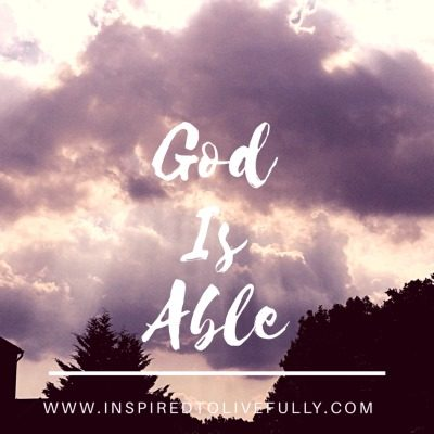 Do you need a fresh reminder that God is able? Join us for this week's Grace & Truth linkup and this week's featured post.