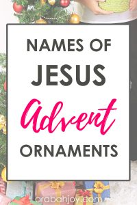 Create a new Christmas tradition with these advent ornaments. Create these beautiful Christmas ornaments to enrich your family's understanding of Jesus this Christmas season.