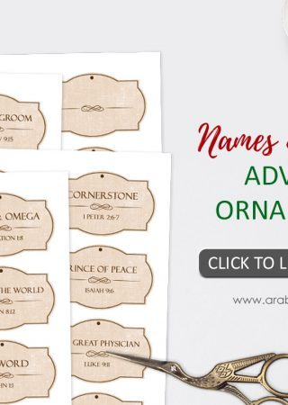 image relating to Free Printable Names of God called Names of Jesus Introduction Ornaments