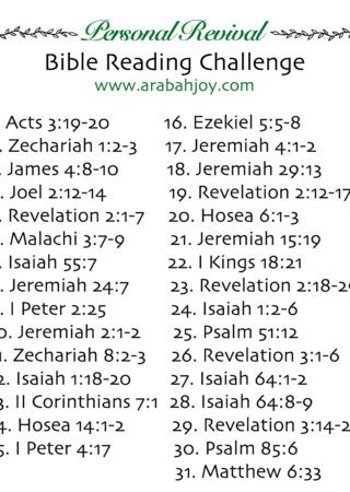 Need a fresh start? Take this 30-Day Personal Revival Bible Reading Challenge