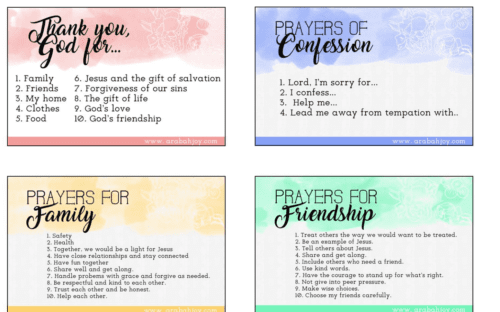 Teach your children to pray with these FREE prayer prompts!