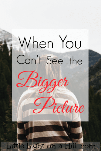 "Encouragement for when you're asking ""why"". Here's what to do when you can't see the bigger picture."