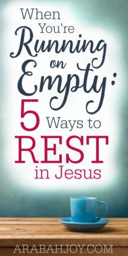 Is Jesus calling you to come aside and rest? Here are 5 ways to be restored when you're running on empty.