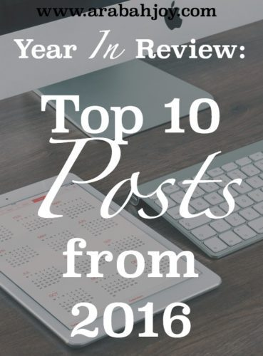 Year In Review- Top 10 Posts from 2016