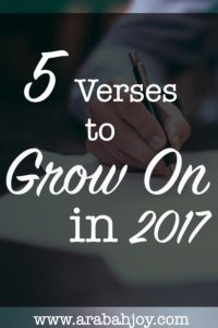 Do you long to grow spiritually in 2017? God has a provision for spiritual growth and these verses will equip you to appropriate that provision!