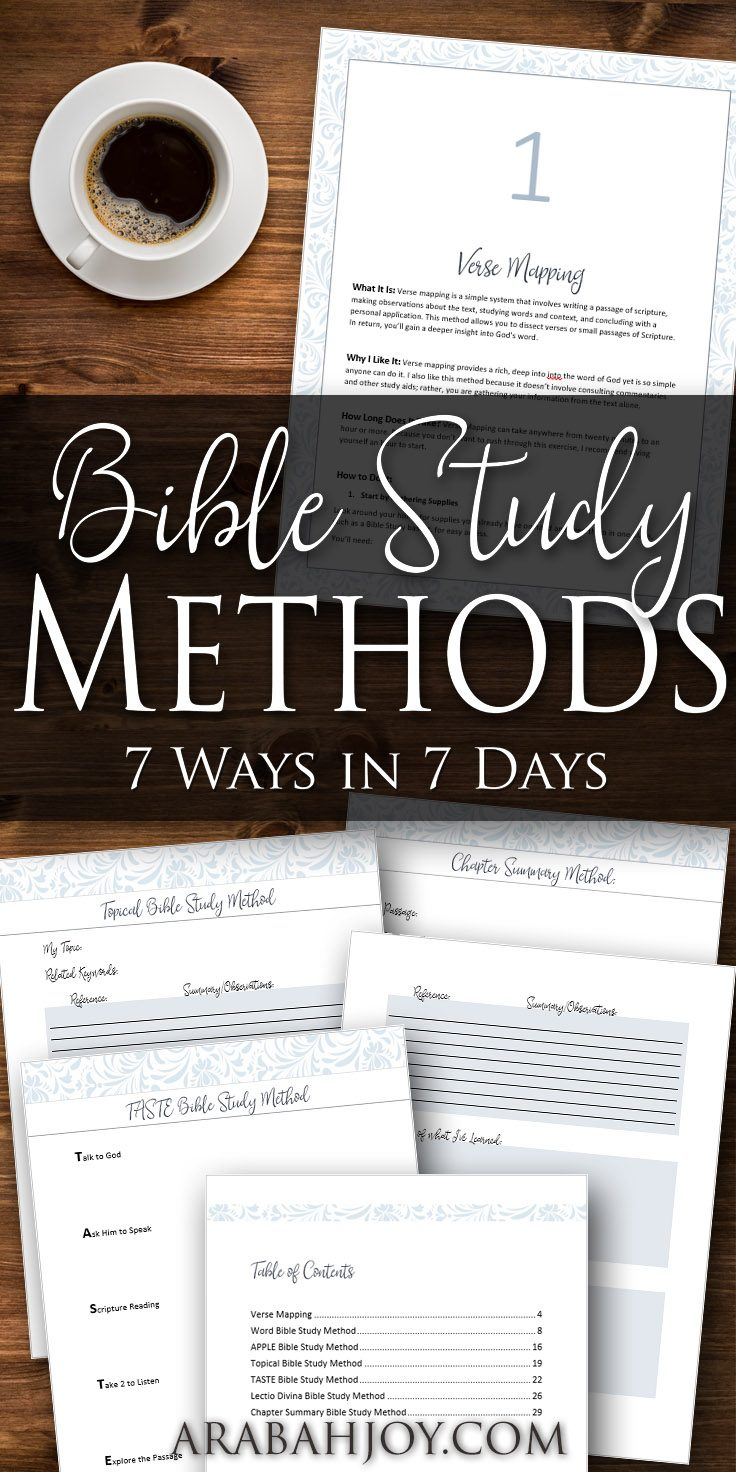 Are you wanting to learn how to study the Bible? These Bible study methods work well for beginners or for anyone interested in spiritual growth. Click to learn more about how to study the Bible with these 7 Bible study methods.