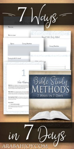 Bible Study Methods: Printables, templates, video instruction for learning how to get more from God