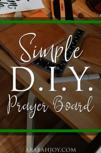 Create your own simple DIY prayer board - a simple resource to help you grow deep roots of faith and stay connected to God throughout the day.